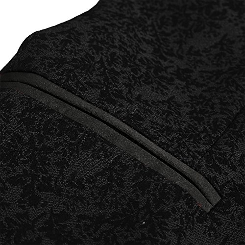 Hanayome -  Giacca da smoking  - Parka - Classico  - Maniche lunghe  - 100 DEN - Uomo Black