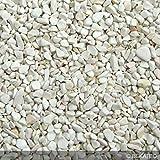 Steinteppich Marmorkies für 2qm | BEKATEQ BK-600EP Bodenbelag Bodenbeschichtung (25KG Marmorkies + 1,5KG Bindemittel, Bianco Verona)