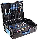 GEDORE L-BOXX 136-23 teilig/Der Azubi Werkzeugkoffer mit Check-Tool-Einlage/Profi Werkzeuge für jede Gelegenheit/Spannungsprüfer
