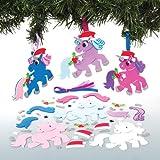 Kits-de-dcorations-licorne-festives--assortir-que-les-enfants-pourront-fabriquer-dcorer-et-personnaliser-Activit-crative-de-Nol-pour-enfant-Lot-de-6