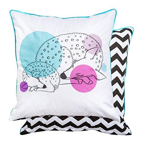 KempKids Oreiller bébé Coussin avec Tai d'oreiller décoratif recto verso Chambre bébé Taille: 40 x 40 cm - Faons