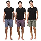 #6: ZOLDY Pack Of 3 Multi Color Cotton Checked Boxers