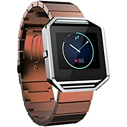For Fitbit Blaze Smart Watch, Xinantime Classic Buckle Fashion Stailess Steel Bracelet Strap Watch Band