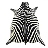 Safari Hunter - Animal Print Konturenschnitt Zebra | realistischer Look | modernste Printtechnik | 100% Polyamid | stilvoller Hingucker | waschbar bei 30°, Farbe:Multicolor, Größe:120 x 180 cm
