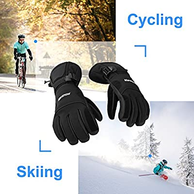 DAS Leben Skihandschuhe Radfahren Motorrad Handschuhe Winter wasserdicht für Damen und Herren