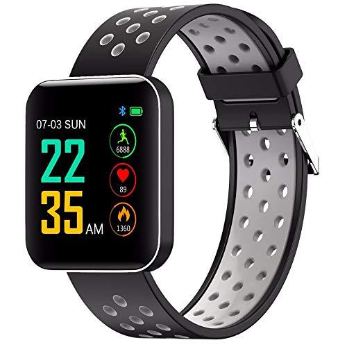 LRWEY Fitness Armband mit Pulsmesser, S88 Multi Funktionen Wasserdichtes Smart Armband 1.54 Farbdisplay Sport Armband, Für iOS Android