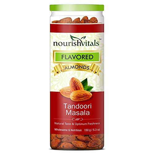 Nourish Vitals Roasted Almonds Tandoori Masala Flavored – 150 gm