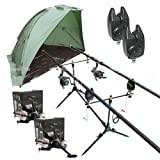 Carp Fishing Set & Bivvy/Shelter, Rods, Reels, Pod, Alarms