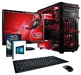"VIBOX Cerberus 8 - Ordenador para gaming (21.5"", Intel K G3258, 16 GB de RAM, 1 TB de disco duro, Nvidia Geforce GTX 750 Ti, Windows 10) color rojo - Teclado AZERTY Francés"