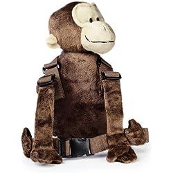 Goldbug - Mochila portabebés de peluche, diseño de mono