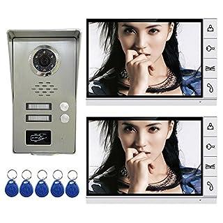 AMOCAM Wired Video Door Phone Intercom System, 9