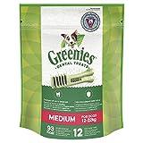Sachets de 340g Contenant 12 Friandises Dentaires Quotidiennes Medium de Greenies pour Chiens de 12 à 22kg
