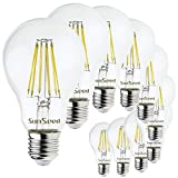 SunSeed, Zwei-Jahres-Gewährleistung, 10 X E27 10W Saphir Filament Glühfaden LED classic Lampe A68 AC180-240V Neutralweiß 4000K 1320 Lumens 300° Switching Driver CC Kein Flimmern