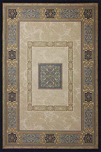 Perser Antik Teppich (Queence   floorinx   Designer Teppich aus HiTech-Vinyl   Moderner Teppich für Wohnzimmer, Schlafzimmer, Kinderzimmer   'Antik', Größe:200x133 cm)