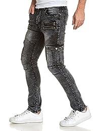 BLZ jeans - Jean homme biker destroy gris