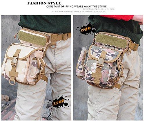 Professionelle Drop Utility Oberschenkel Tasche Mehrzwecktaschen Military Taille Pack Waffen Taktik Outdoor Sport Ride MOLLE Bein Tasche armee-grün