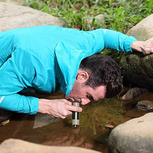 miniwell Wasserfilter für Outdoor-Sport, ideal für Reisen und Rucksackreisen