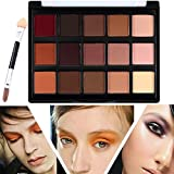 Palette di Ombretti Makeup Kit Make Up Professionale, TOFAR 15 Colori luminoso Basi per Ombretto Cosmetici ombretto tavolozza High Pigment Cosmetics pallet ombretto con pennello - #1