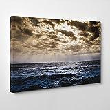 BIG Box Art Arty Pie Seascape Sea And Clouds Canvas Print, Multi-Colour, 30 x 20-Inch/76 x 50 cm