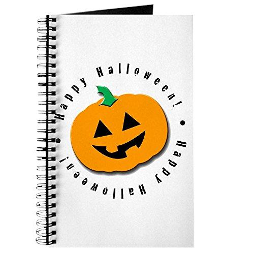 CafePress - Halloween-Kürbis - Spiralgebundenes Tagebuch, persönliches Tagebuch, Punkt-Raster