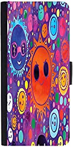 Snoogg Cool Suns 2612 Designer Protective Phone Flip Case Cover For Micromax Canvas Juice 2