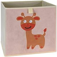 Preisvergleich für LS-LebenStil Kinder Aufbewahrungsbox REH Spielzeugkiste Faltbar 32x32x30 Kiste Schublade Spielzeug Aufbewahrungswürfel Organizer