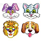 Perpetual Bliss (Pack Of 10) 3D Eye Mask For Kids/Birthday Theme Party Decoration Supplies/Return Gifts/Animal Theme