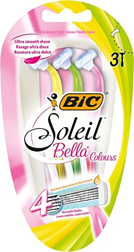Cuchillas de afeitar BIC Soleil Bella Colours Lady, juego de 3