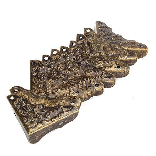 BQLZR Vintage Antike Dekorative Kantenschutz Tisch Kantenabdeckung Bronze Packung mit 20