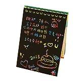 Masterein 10 pages / 1 livre Dazzle Colorful Scratch Remarque Sketchbook papier Graffiti bricolage Bobines Dessin Livre couleur aléatoire