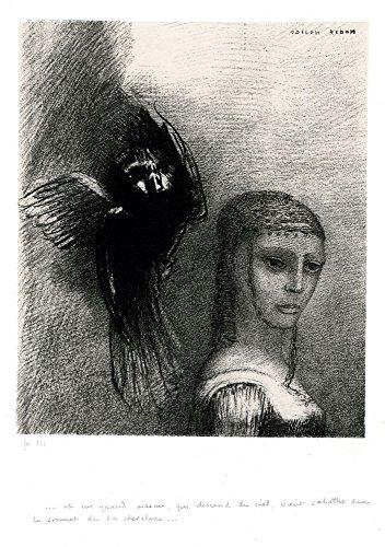 Das Museum Outlet-Ein fliegendes Monster droht zu Strike mit Ein Flügel eine Blind Person mit kunstvollem, GAP, 1888-Leinwanddruck Online kaufen (76,2x 101,6cm) Baby Gap Outlet