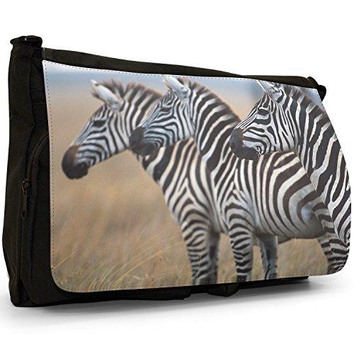 Fancy A Bag Borsa Messenger nero Zebra Zebra Close Up