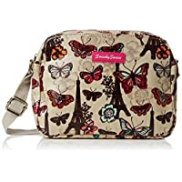 SWANKYSWANS Womens Noel Paris Butterfly Floral 3 Pocket Womens bag Cross-Body Bag