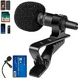 Mini Microphone for Podcast/Vlogging/YouTube/Interview - 3.5 Mini Microphone - Lavalier Lapel Mic Mini