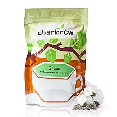 Charbrew - Thé vert - 50 sachets de thé pyramides biodégradables en filet