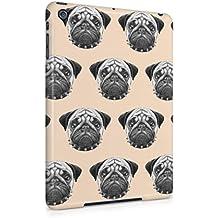 Pugs Pattern Print Pale Pink Pattern Apple iPad Mini 1 Snap-On Hard Plastic Protective Shell Case Cover Carcasa