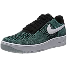 Nike - Air Force 1 Flyknit Low - 820256007 - Color: Gris-Negro - Size: 38.0 jJ8X3psVh