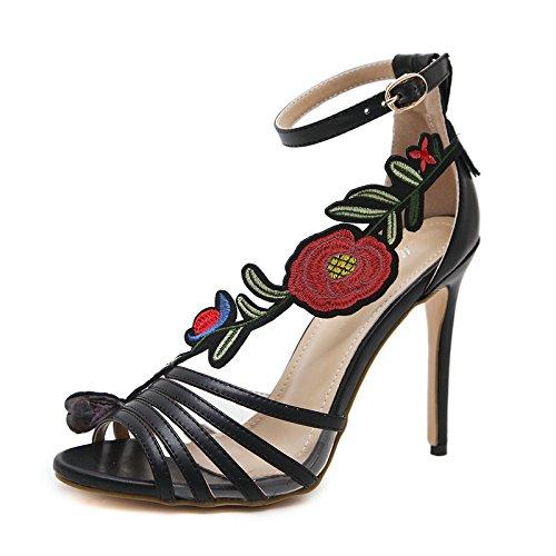 CXKS de L'Été Hauts Talons Sandales Femmes à Embout Ouvert Chaussures Haute Mince Partie Pompes Service