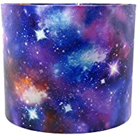 """Space Lampshade or Ceiling Light Shade 10"""" DRUM Glitter Detail Galaxy Nebula Rocket Spaceman Spaceship Planet Boys Girls Bedroom Nursery Accessories Gifts"""