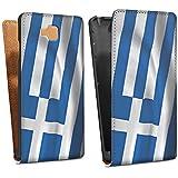 LG Optimus L9 II D605 Tasche Schutz Hülle Walletcase Bookstyle Griechenland Flagge Greece