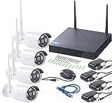 VisorTech Überwachungskamera: Funk-Überwachungssystem, HDD-Rekorder & 4 IP-Kameras, Plug & Play, App (IP Kamera Set) - 5