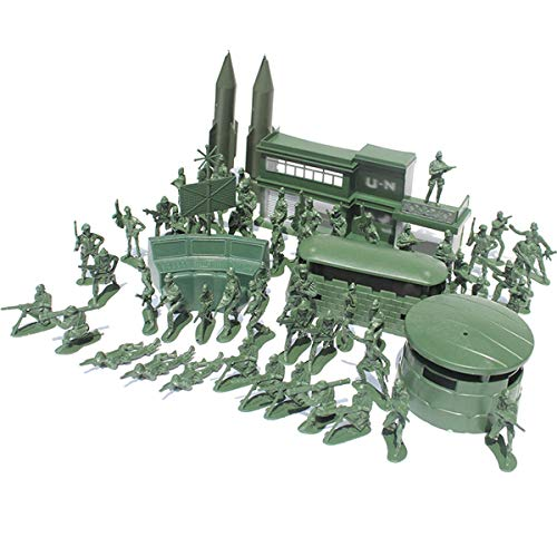TOYANDONA 56 stücke Militärische Kunststoff Soldaten Modell Spielzeug Armee Männer Figuren Zubehör Kit Armee Spielzeug für Jungen Kinder Kinder (Grün) (Armee Kunststoff Spielzeug Männer)