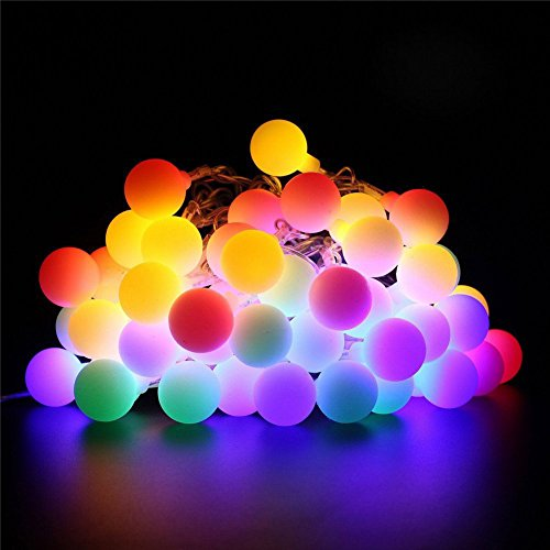 Multi Color Christmas Tree (60 LED Globe String Lights, Ball Christmas Lights, Indoor / Outdoor Decorative Light, USB Powered, 33 ft with  8 Color Changing Modes,for Garden,Wedding Tree Decoration,Xmas Party-Multi color)