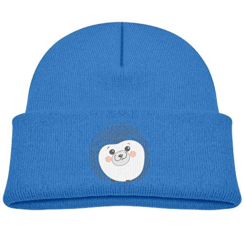 Boys&Girls Outdoor Sports Knit Cap Hedgehog Fashion Printed Child Watch Hat Royalblue
