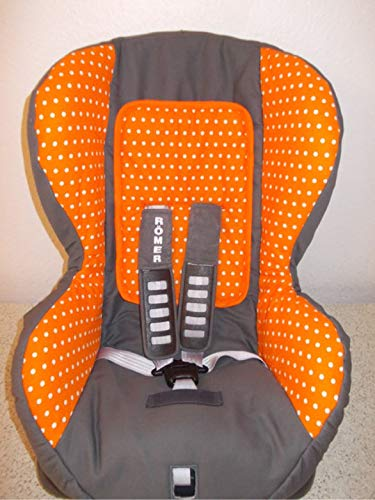 Britax Römer Duo Plus Bezug, Ersatzbezug, grau orange