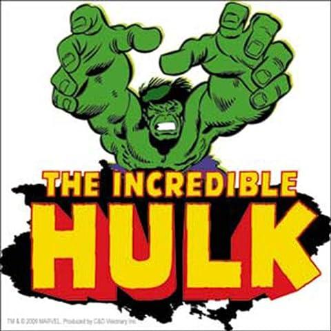 The Incredible HULK Retro Reach raggiungere STICKER ADESIVO, Officially Licensed