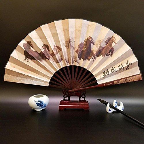 Daeou Ventilador seda tradicional de viento chino ventilador plegable