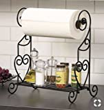 #7: Kitchen Utility Stand with Tissue Paper Roll Holder - (Size: 14x10x9 Inches)