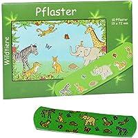 Unbekannt 10 Kinderpflaster im Nachfüllpack mit Wildtiere - Motiv - Pflaster für Kinder und Erwachsene - Zootiere... preisvergleich bei billige-tabletten.eu
