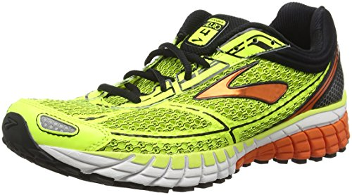 Brooks Men Aduro 4 Running Shoes, Yellow (Nightlife/Red-Orange/Black), 12 UK 47 1/2...